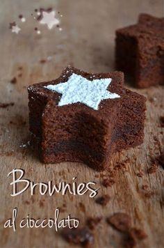 I dolci nella mente: Brownies al cioccolato...Irresistibili stelle di bontà!