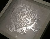 Silver Gold Foil John Legend All Of Me Personalised Framed Song Lyric Box Keepsake Proposal Engagement Wedding First Dance Song Anniversary