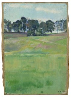 "amare-habeo: ""  Ferdinand Hodler (Swiss, 1853-1918) Meadow landscape with tree series (Wiesenlandschaft mit Baumreihe), 1893-1894 Oil on canvas, 35,4 x 24,5 cm """