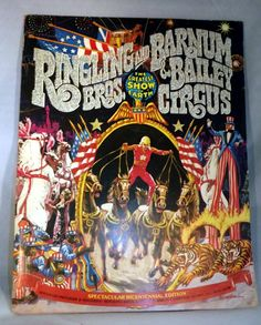 Vintage Ringling Bros. and Barnum & Bailey bicentennial souvenir program/magazine from 1975. Excellent condition, approximately 50 pages.