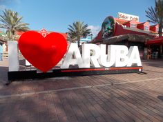 The smaller of the two signs, near the Radisson in Aruba