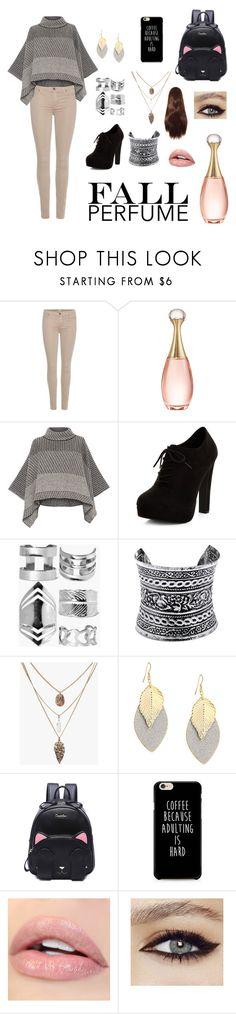 """""""Fall Perfume"""" by dadrumma ❤ liked on Polyvore featuring 7 For All Mankind, Christian Dior, Piazza Sempione, New Look, Boohoo, LULUS and fallperfume"""