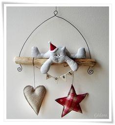 Cat christmas decoration
