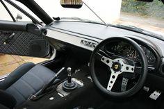 NA RHD Miata with DIY custom interior and replaced crashpad by OnePaintedMan