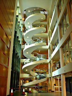 Spiral Staircase ~ Garvan Institute in Sydney, Austrailia.