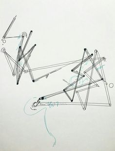 칵테일을 만드는 손의 움직임을 점으로 나타낸 후 선으로 이어서 색다른 이미지를 표현해보고자 하였다. [추상적/패턴적]
