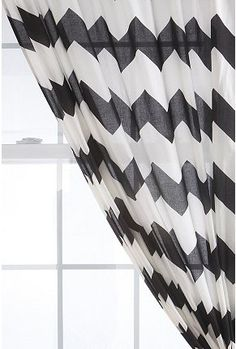 Urban Outfitters Zig Zag Curtains