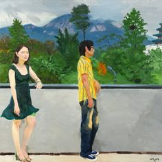 MOUNTAIN INWANG, Liu Xiaodong (b1963, Jincheng, Liaoning Province, China). He now holds tenure as a professor in the painting department at CAFA