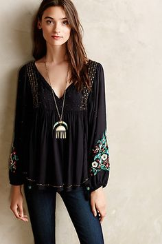 Austral Peasant Blouse - anthropologie.com     Love the pendant, and the blouse is pretty cool too