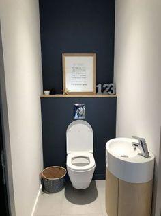 Small Toilet Room, Small Bathroom, Bathroom Ideas, Modern Bathroom, Half Bathrooms, Bathroom Colors, Bathroom Designs, Bathroom Renovations, Bad Inspiration