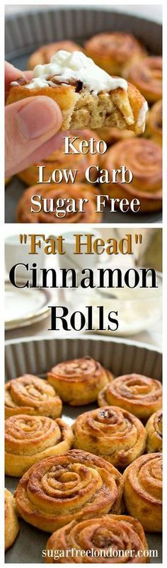 Soft, gooey, fluffy keto cinnamon rolls! A delicious tea-time treat, these rolls are made with the famous fat head dough. They are sugar free, grain free, gluten free and only 1.3 net carbs per roll.