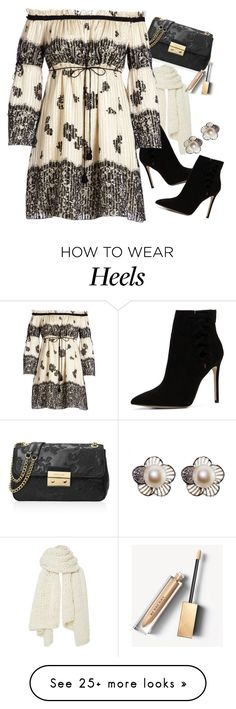 """""""Lace Print Floral Off-Shoulder Dress"""" by majezy on Polyvore featuring I Love Mr. Mittens, ALDO, MICHAEL Michael Kors, Rachel Zoe and Burberry"""