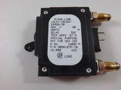 LMLK11RLS42992870 - AIRPAX - 70 AMP CKT BREAKER BULLET BLACK HANDLE 2 PINS