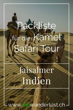 """Wir haben euch die wichtgsten Informationen für eine Kamel Safari Tour zusammengestellt und auch eine Packliste geschrieben. Zudem alles über Jaisalmer """"die golden city"""" und Tipps zu Restaurants und Hotels #jaisalmer #indien #kamelsafaritour #packliste #tipps Jaisalmer, Safari, Der Bus, Restaurants, Asia, Tours, Movie Posters, Wanderlust, Hotels"""