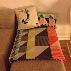 Gullfuglen blanket and cushions at home @ana venere #funkle