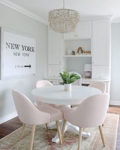 20 Lovely Pink Dining Room Chairs Ideas For Your Dining Room. 20 Lovely Pink Dining Room Chairs Ideas For Your Dining Room. One of the hottest trends in home decor these days is the upsurge in popularity of modern dining room chairs. Dining Room Lighting, Modern Dining Room, House Interior, Dining Room Chairs, Home, Dining Room Small, Pink Dining Rooms, Dining Room Light Fixtures, Room Interior