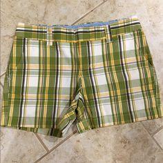 Tommy Hilfiger green plaid shorts Brand new green plaid Tommy Hilfiger shorts Tommy Hilfiger Shorts