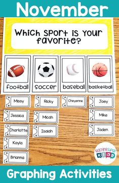 Graphing Activities Question of the Week Kindergarten Activities, Learning Activities, Teaching Ideas, Preschool, Graphing Activities, Hands On Activities, Teacher Created Resources, Teacher Resources, September Themes