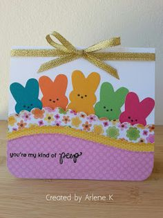 """Easter Card #SSSFAVE. """"My Kind of Peep"""" stampset."""