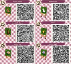 """cygnettesnoires: """"I made some grass and tiles for easter and spring! Please feel free to use. """""""