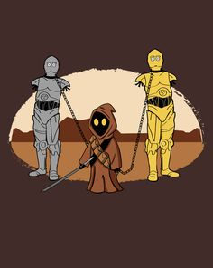 I'm normally not a big fan of mash-ups, but this one is so unexpected that it works. ----- The Walking Droids at Shirtpunch.com