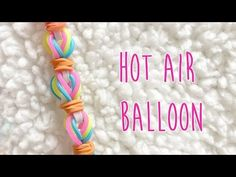 Original rainbow loom tutorial for hot air balloon. No Loom required. 2 peg pattern. Great for beginners as well as advanced loomers. Blog http://www.thechee... Rainbow Loom Party, New Rainbow Loom, Rainbow Loom Bands, Rainbow Loom Bracelets, Loom Band Patterns, Rainbow Loom Patterns, Rainbow Loom Creations, Fun Loom, Loom Love