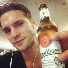 """Tomas Skoloudik: """"I love USA ,but 11 bucks for my hometown #pilsner where it cost 1 dollar damn ,well cheers @twomanagement @imgmodels @imguys """" - October 4, 2014"""