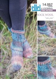Make these funky socks with Elle yarns Sock Wool Loom Patterns, Knitting Patterns, Funky Socks, Yarns, Crafty, Wool, Creative, How To Make, Free