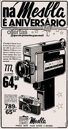 Anúncio lojas Mesbla - 1975