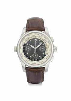 Girard-Perregaux. A large 18K white gold automatic world-time chronograph wristwatch with date, circa 2005 #ChristiesWatches