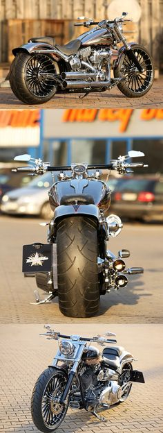 #Harley-Davidson CVO Breakout by Thunderbike with new Pulleybrake-System #harleydavidsonbaggerforsale #harleydavidsontrike