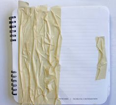punk projects: masking tape for texture on art journal page