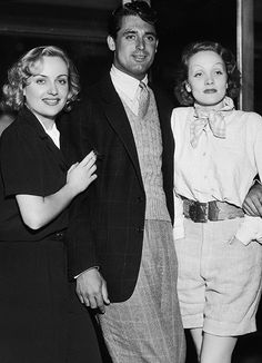 Carole Lombard, Cary Grant, and Marlene Dietrich(1930s)
