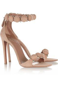 #ALAÏA Embellished suede sandals