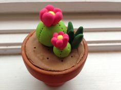 Olivia made this cute polymer clay cactis in a pot