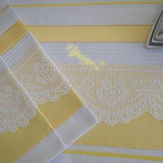 . Crochet Borders, Filet Crochet, Crochet Doilies, Crochet Lace, Crochet Stitches, Linen Bedding, Bedding Sets, Sewing Patterns, Crochet Patterns