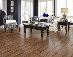 Distressed floors like Elk Rock Elm add a touch of vintage craftsmanship to your home with a range of subtle textures. [Distressed Textures | Flooring Trends 2015]