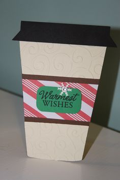 Coffee Gift Card Holder - Christmas. Created with Love You A Latte Cricut Cartridge