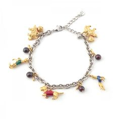 Dog Charm Bracelet Fashion Bracelets, Fashion Jewelry, Pewter, Beaded Bracelets, Charmed, Dog, Pendant, Earrings, Silver