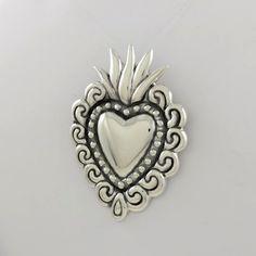 Sterling Sacred Heart Pendant by Maria Belen Nilson | Glint Silver WorksGlint Silver Works