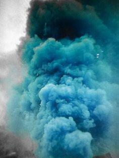 Blue smoke cloud