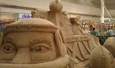 Green Bay Packers Sand Sculpture