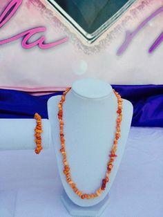 Genuine Orange Quartz Set  #Bracelets #Chips #CrystalHealing #fashiontrends #healing #makeitaset #Necklaces #NewAge #Orange #Quartz #Spiritual #what'shotnow