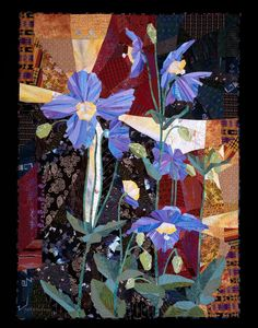 "Himalayan Blue Poppy 70.5"" x 52"" 2003 by Ruth B. McDowell"