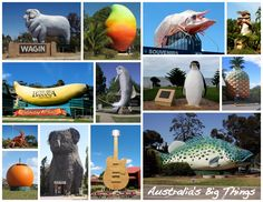 I would love to go on a road trip and see every 'big' attraction in Australia.and there are only about 150 of them in this big country. Australia Photos, Australia Day, Australia Travel, Australia Tourist Attractions, Roadside Attractions, Facts About Australia, Big Country, Places To Visit, Sculptures