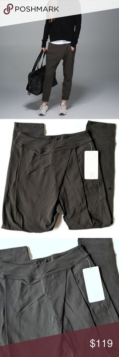 """Lululemon Yogini Trouser Pant NWT SZ 4 Dark Wren Lululemon Yogini Trouser Pant Dark Wren  Size 4  Measurements:  Waist: 12.75"""" Inseam:  28""""   Condition: NWT My items come from a smoke-free household, we do have a kitty, so an occasional hair may occur! lululemon athletica Pants Track Pants & Joggers"""