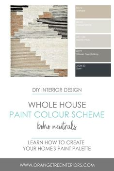 Learn how to put together a whole house paint colour scheme by taking my online DIY Interior Design Course. You will gain the knowledge you need to style and refresh your home with confidence. Interior Design Color Schemes, Interior Design Courses, Paint Color Schemes, Diy Interior, Home Interior Design, Farmhouse Paint Colors, Paint Colors For Home, Paint Colours, Minimalist Interior