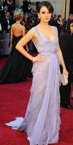 Mila Kunis' 2011 Oscar dress: If i could make one red carpet look mine, it would be this one. absolutely LOVE everything about this dress.