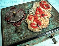 Altered box using Tim Holtz products