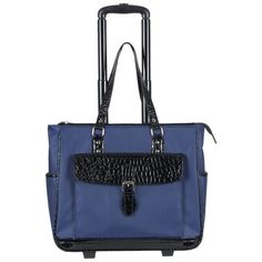 """Heritage """"Lake View"""" Women's Nylon Twill Laptop Carry-on Business Tote (Navy), Blue, Heritage Travelware Pvc Trim, Laptop Tote Bag, 17 Inch Laptop, Best Laptops, Lake View, Briefcase, Luggage Bags, Carry On, Pouch"""